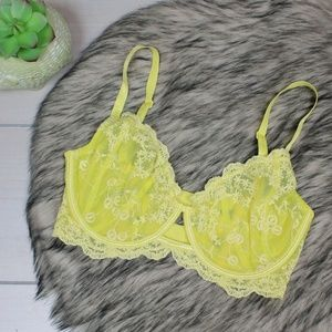 *BOGO* Free People Yellow Lace Underwire Bra 32DD